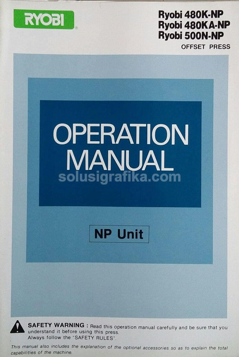 buku book ryobi operation manual book operation manual 480k rh m solusigrafika com